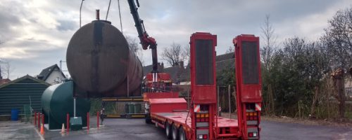 Dieseltank verwijderen